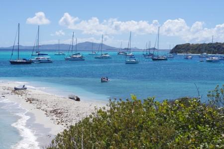 Ankerfeld in den Cays: Wir waren leider nicht alleine